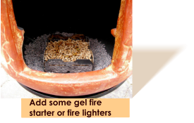 Add some gel fire starter or fire lighters